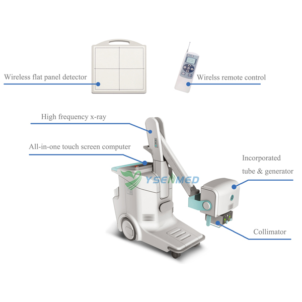 16KW Mobile Digital Radiography X-ray System